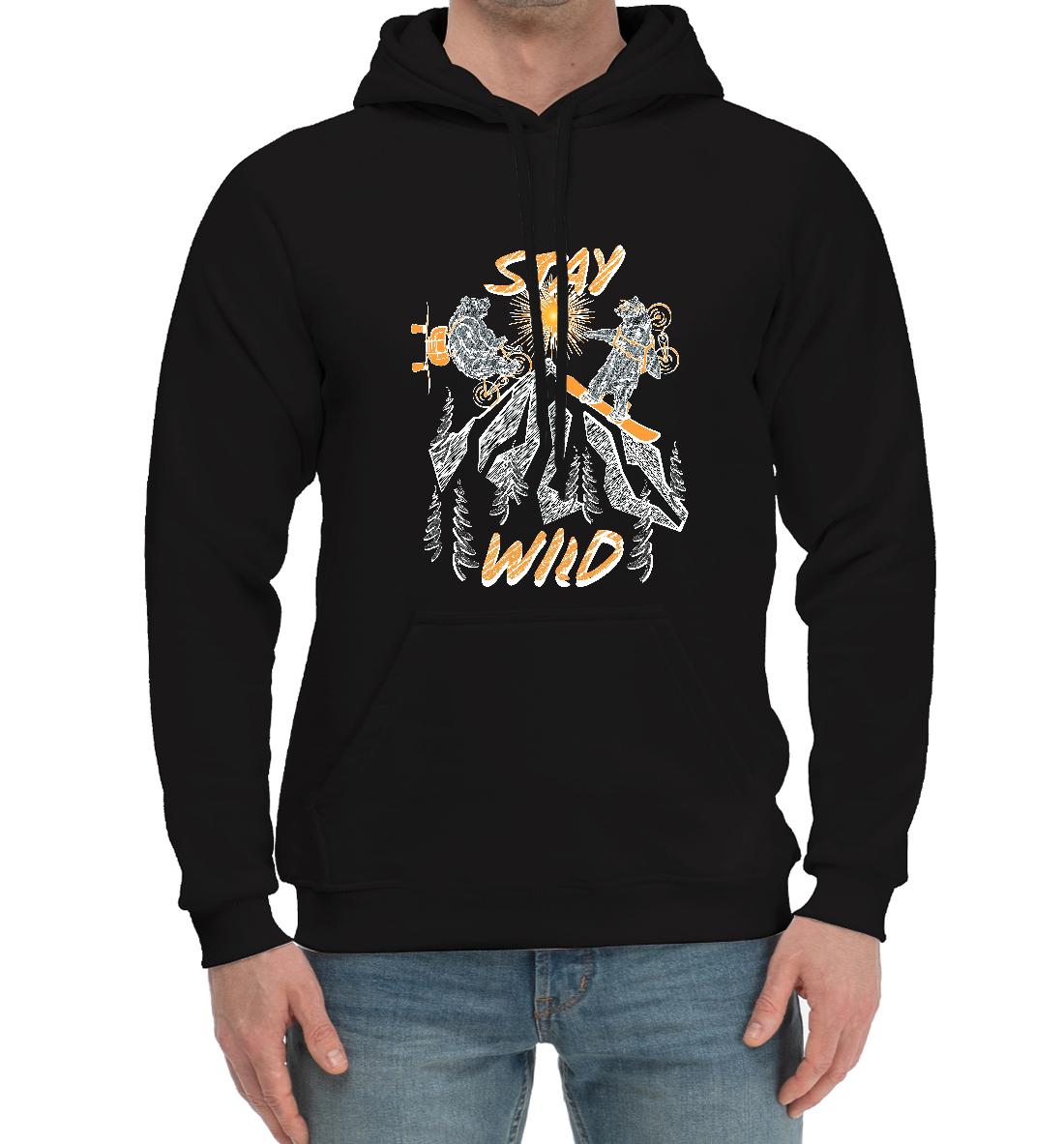 «STAY WILD» — хлопковый мужской, артикул: SNW-382361-hhu-2