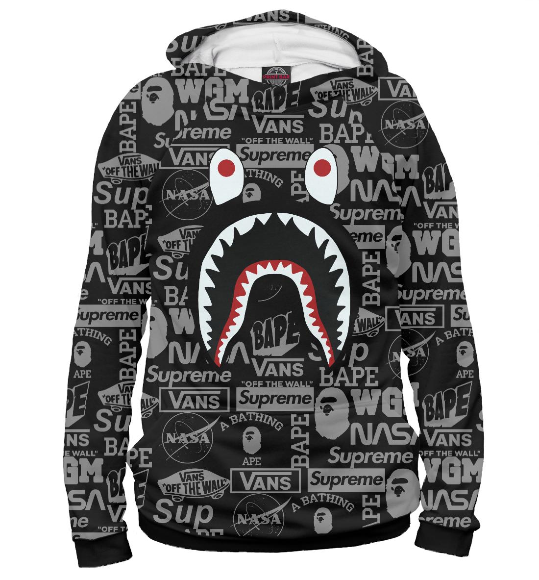«Bape shark» — худи женское, артикул: BAP-612923-hud-1