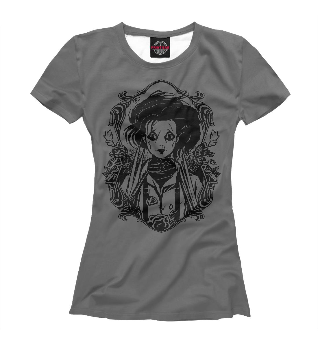 «Эдвард руки-ножницы» — футболка женская, артикул: TIM-787567-fut-1